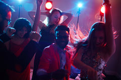 Danseurs enthousiastes Photo stock