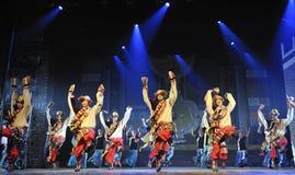 Danseurs ethniques tibétains photos libres de droits