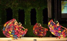 Danseurs féminins mexicains colorés Image libre de droits
