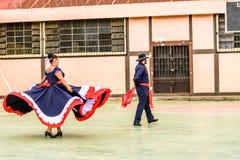 Danseurs folkloriques de Costa Rican, Guatemala images stock