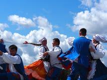 Danseurs folkloriques polonais photos libres de droits