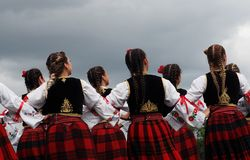 Serbian Folk Dancers At Edmonton`s Heritage Days