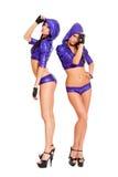 Danseurs frais dans des costumes lumineux photo libre de droits