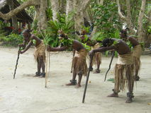 Danseurs indigènes au Vanuatu Image libre de droits