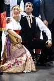 Danseurs italiens traditionnels au BIT 2012 image stock