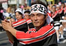 Danseurs japonais de festival Photos stock