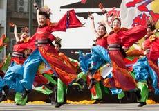 Danseurs japonais de festival Photographie stock
