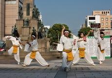 Danseurs japonais de festival de Daihanya Photos libres de droits