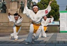 Danseurs japonais de festival de Daihanya Images libres de droits