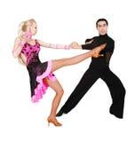 Danseurs latins au-dessus de blanc Photo libre de droits