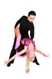Danseurs latins au-dessus de blanc Photo stock