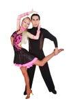 Danseurs latins au-dessus de blanc Photos stock