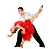 Danseurs latins dans l'action Image stock
