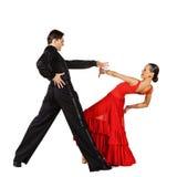 Danseurs latins dans l'action Photographie stock libre de droits