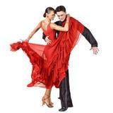 Danseurs latins dans l'action Photo libre de droits