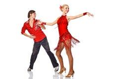 Danseurs latins dans l'action. Photos libres de droits