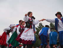 Danseurs polonais photo stock