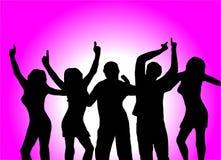 Danseurs pourprés Image stock