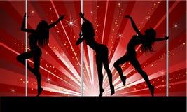 Danseurs sexy de pôle Images libres de droits