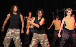 Danseurs sur l'étape Photo libre de droits