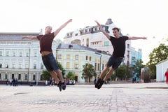 Danseurs sur la rue photos libres de droits