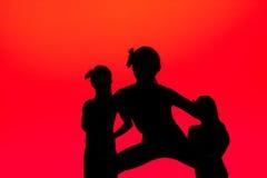 Danseurs sur le rouge photographie stock libre de droits