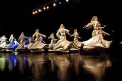 Danseurs tchétchènes féminins de folklore Image stock