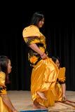 Danseurs - Tinikling - tradition philippine Photo stock