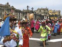 Danseurs traditionnels Pérou Images libres de droits