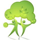 Danseurs verts Images stock