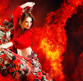 Danseuse chaude de femme photographie stock libre de droits