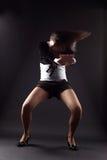 Danseuse de femme de RnB Photographie stock libre de droits