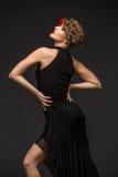 Danseuse de fille dans la robe de tango Images libres de droits