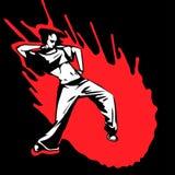Danseuse moderne de fille tirée par la main de vecteur Images libres de droits