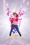 Danseuse passionnée de jeune femme Image stock