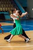 Dansflicka och pojke Fotografering för Bildbyråer
