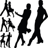 Dansfolk Arkivfoto