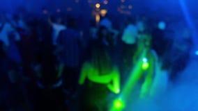 Dansfolk ut ur fokus Video för laser-show HD