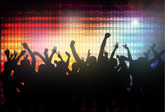 Dansfolkkonturer Arkivbild
