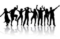 Dansfolkkonturer Fotografering för Bildbyråer