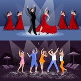 Dansfolksammansättningar vektor illustrationer
