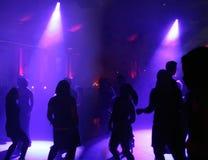dansfolksilhouettes Fotografering för Bildbyråer