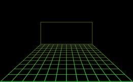 Dansgolv för vektordiskoljus Arkivfoto