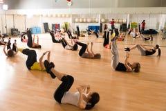 Dansgrupp för kvinnor Royaltyfri Foto