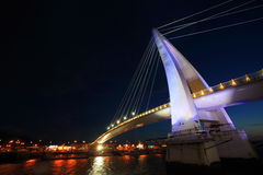 Danshui Fisher wharf lover bridge. With magic moment Stock Images