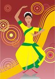 dansindierkvinna Arkivfoton