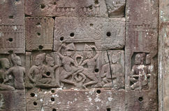 Dansing Apsaras w Angkor Wat Obrazy Stock