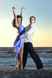 Dansing on the beach Stock Image