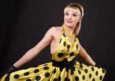 Dansing blonde. Royalty Free Stock Images