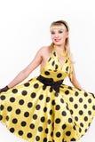 Dansing blonde. Royalty Free Stock Photo